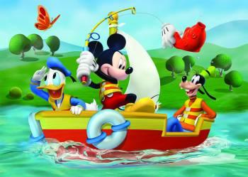 Puzzle de podea - Mickey Mouse la pescuit 24 piese Jucarii si Jocuri
