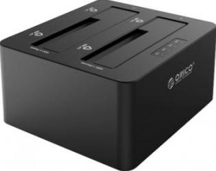 Rack extern Orico 6629US3-C 2.5 si 3.5 inch Dual Bay SATA USB 3 Rack uri