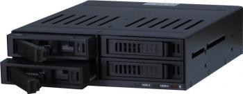 Rack intern Inter-Tech HDD Mobile Rack X-3531 5.25inch SATA Negru Rack uri