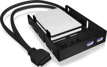 Rack intern RaidSonic Icy Box IB-AC615 2x 2.5inch negru