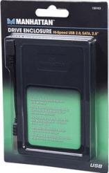 Rack Manhattan 2.5 SATA - USB 2.0 Negru