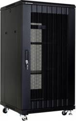 Rack Server Linkbasic 19 inch 22U 600x600mm Negru