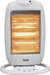 Radiator cu halogen ZASS HS01 1200W 3 trepte de viteza Alb