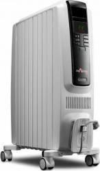 Calorifer electric DeLonghi Dragon 2000W 8 elementi Termostat Timer Electronic Gri Aparate de incalzire