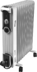 Radiator cu ulei ZASS ZR13SL 2500W 3 trepte de putere termostat reglabil Alb Aparate de incalzire