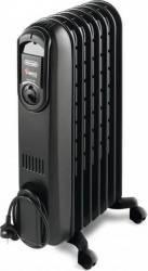 Radiator electric cu ulei DeLonghi V550715 1500W Termostat reglabil 7 elementi Negru Aparate de incalzire