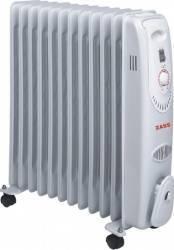 Radiator electric cu ulei Zass ZR 12 C 2500W Termostat reglabil Alb
