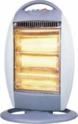 Radiator electric halogen Hausberg HB 8401 1200W 3 trepte de putere AlbGri Aparate de incalzire