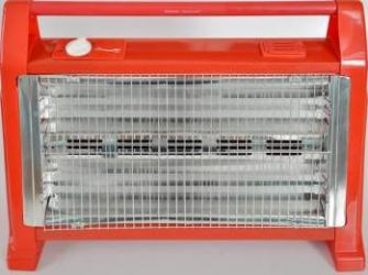 Radiator electric quartz Hausberg HB 8102 1600W 2 trepte de incalzire Rosu Aparate de incalzire