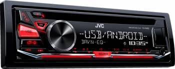 Radio CD auto JVC KD-R482 4x50W USB AUX Subwoofer control Rosu Player Auto