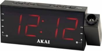 Radio cu ceas AKAI ACR-1001 FM radio dual alarm proiector si functie incarcare telefon Ceasuri si Radio cu ceas