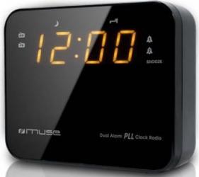 Radio cu ceas Muse M-165 Dual Alarm LED Black Ceasuri si Radio cu ceas