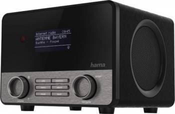 Radio Hama cu ceas si internet IR110M Multiroom App Control  Black Silver Ceasuri si Radio cu ceas