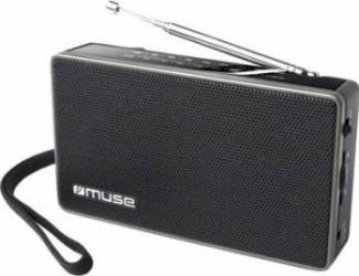 Radio Portabil Muse M-030 R Negru Ceasuri si Radio cu ceas