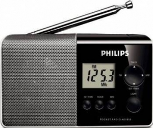Radio portabil Philips AE1850-00 Black-Silver
