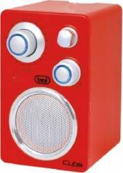 Radio Portabil Trevi Cuba RA 742 T  Rosu Ceasuri si Radio cu ceas