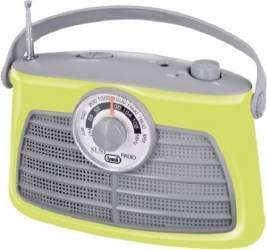 Radio Portabil Vintage Trevi RA 763 Verde Ceasuri si Radio cu ceas