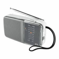 Radio orizontal de buzunar AMFM 2x1.5V mufa casti Sal Ceasuri si Radio cu ceas