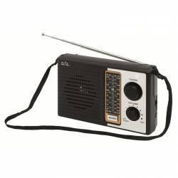 Radio portabil 4 frecvente tensiune 3.5V negru Sal Ceasuri si Radio cu ceas