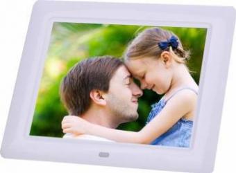 Rama foto digitala PS-DPF802 LCD de 8 inch cu telecomanda alb Rame Foto