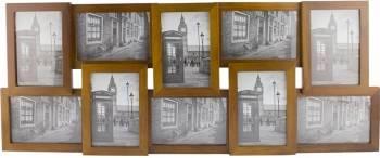 Rama foto multipla sabir 10 poze lemn 67 x 28 cm pentru perete Rame Foto
