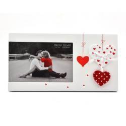 Rama foto First Love din lemn cu inimioare Rame Foto