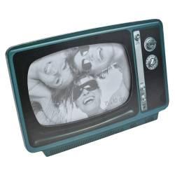 Rama foto JJA model televizor lemn negruverde 14.5 x 21.5 cm Decoratiuni Interioare si Exterioare