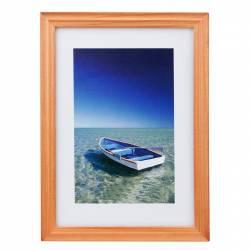 Rama foto Ocean Boat 13x18 cm lemn aspect vintage de birou cires Rame Foto