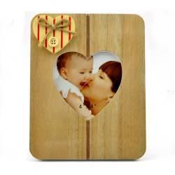 Rama foto Solo lemn cu decoratiune inimioara aplicata format 10x15 Rame Foto