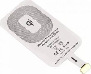 Receptor incarcare wireless pentru iPhone 5 5S 5C alb
