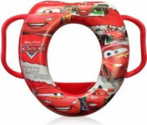 Reductor Toaleta Lorelli cu Manere Disney - Cars Red Olite si reductoare WC