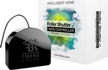 Releu jaluzele Fibaro Rulou 2 Negru Kit Smart Home si senzori