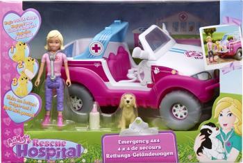 Rescue Hospital Animagic Ambulanta Jeep Machete