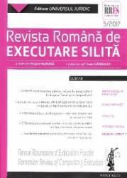Revista romana de executare silita 3 din 2017