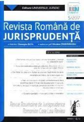 Revista romana de jurisprudenta 5 din 2017