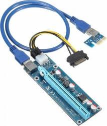 Riser PCIE 1x-16x pentru mining OEM V006C USB 60cm Accesorii
