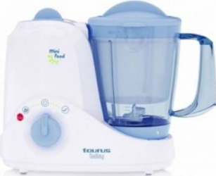 Robot de bucatarie Taurus Baby Mini Food 520W Bol 1.2L Lame Inox Alb Roboti de bucatarie