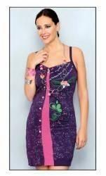 pret preturi Rochie casual model floral brodat culoarea violet marimea M