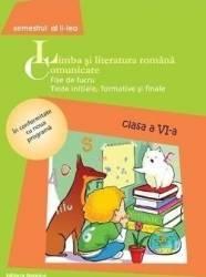 Romana cls 6 Comunicare 2014 sem II - Fise de lucru