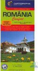 Romania  Harta Turistica Si Rutiera Laminata