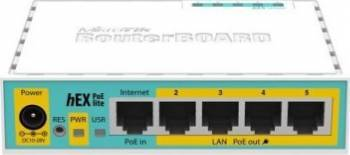 Router Mikrotik RB750UPr2 hEX PoE lite 5-port Fast Ethernet Routere