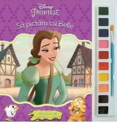 Sa pictam cu Belle - Carte de colorat cu pensula si acuarele