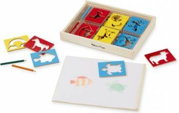 Sabloane din lemn Mix - Melissa and Doug Rechizite