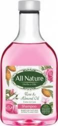 Sampon All Nature Rose and Almond oil 255ml Sampon