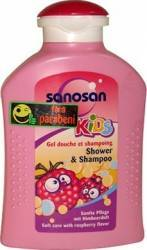 Sampon pentru copii Sanosan Shower and Shampoo Raspberry