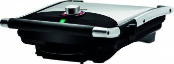 Gratar electric Albatros GT-2000, 2000W, Placi tip grill anti-aderente, Termostat, Argintiu Sandwich maker