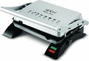 Gratar electric Sinbo SSM-2529 Putere 2000 W Placi grill Inox-negru Gratare electrice