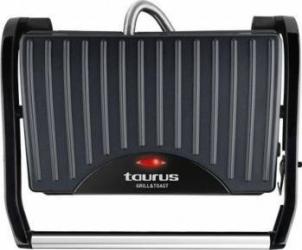 Sandwich maker Taurus GRILL & TOAST 700 W Placi neaderente grill Placa superioara basculanta Negru Sandwich maker