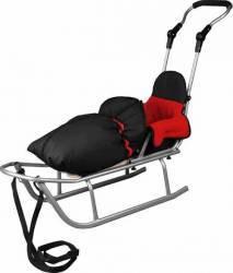 Sanie Baby Dreams Rider Plus cu Sac de iarna Speedy Rosu Saniute si patine