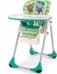 Scaun de masa Chicco Polly 2 in 1 Green Land Scaune de masa